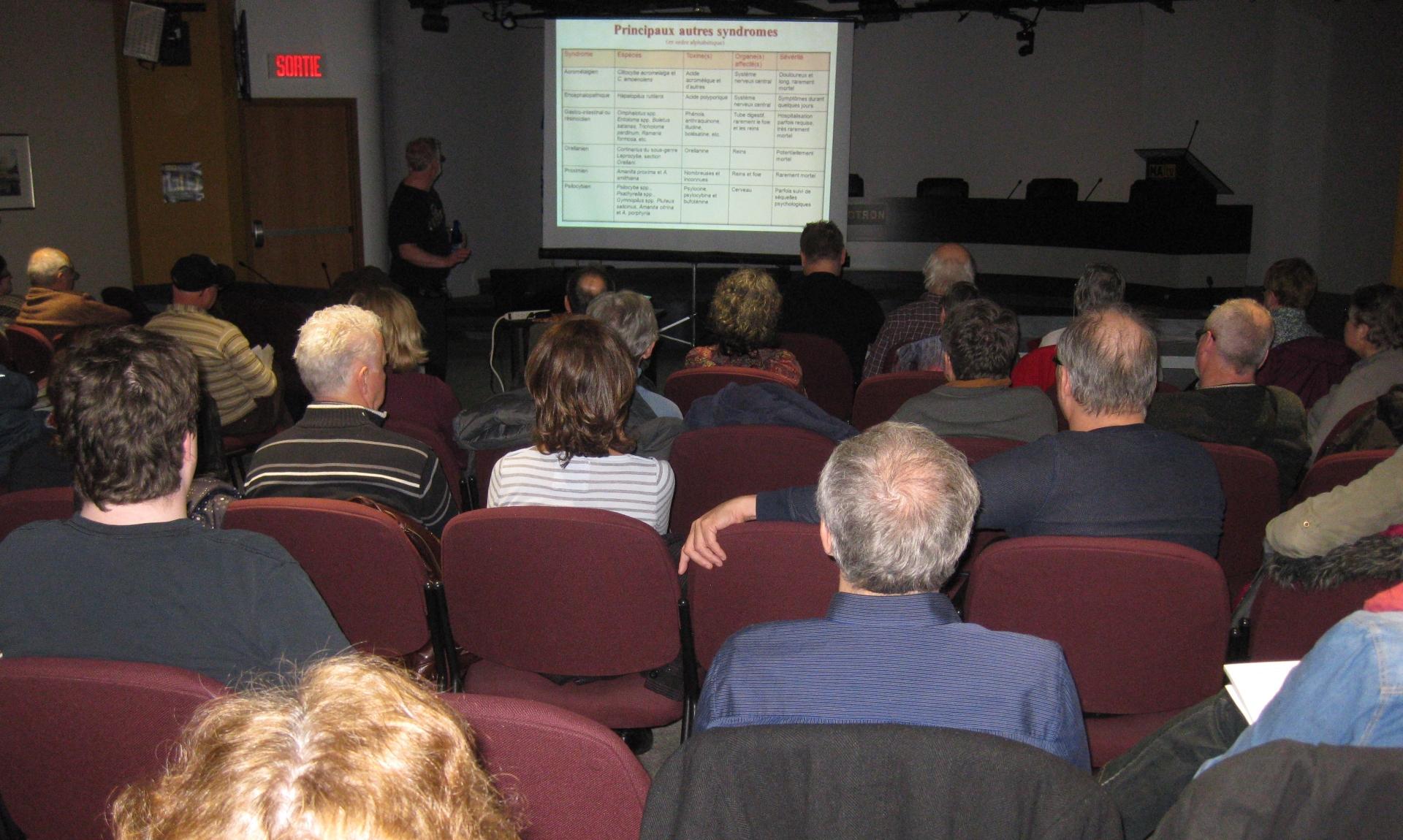 Une quarantaine de membres ont assisté à la présentation